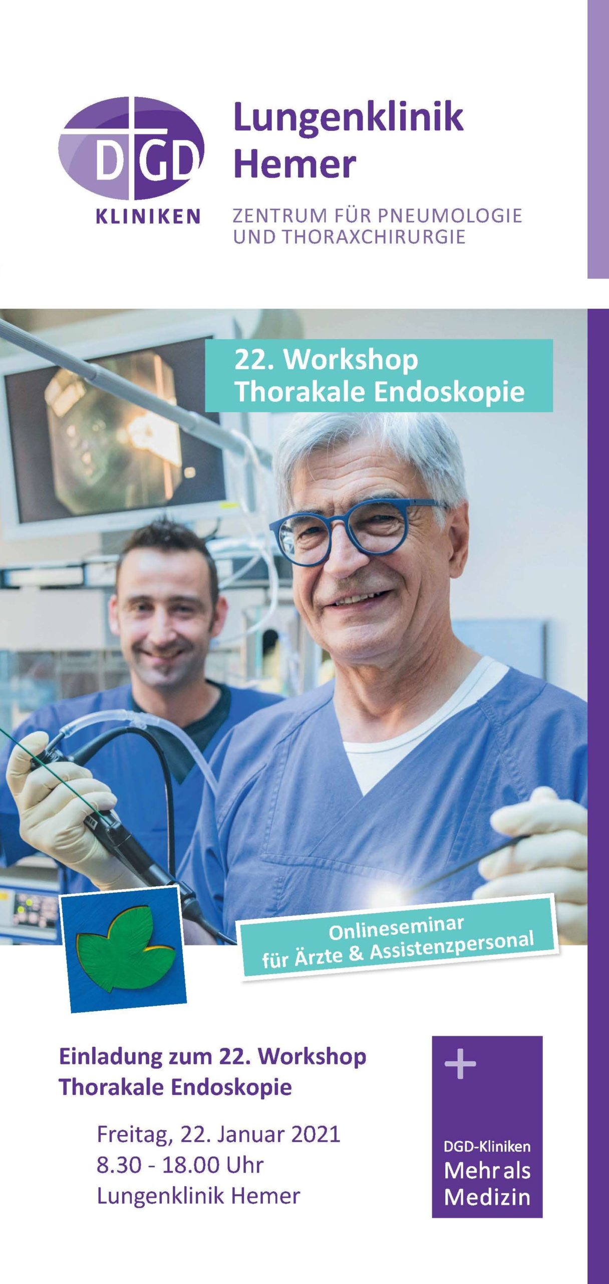 22. Workshop Thorakale Endoskopie