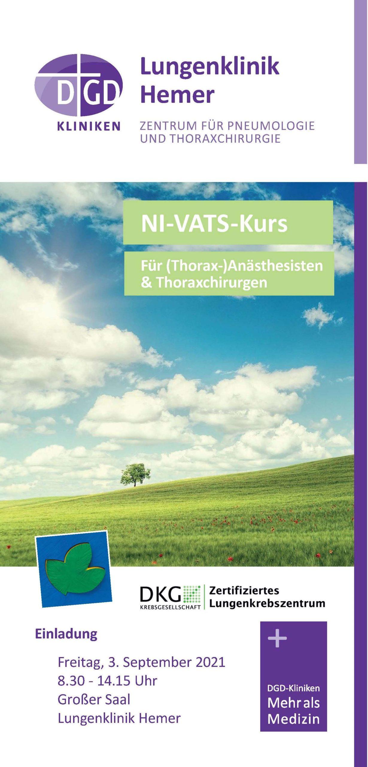 +++ AUSGEBUCHT +++ NI-VATS-Kurs am 3. September 2021 +++
